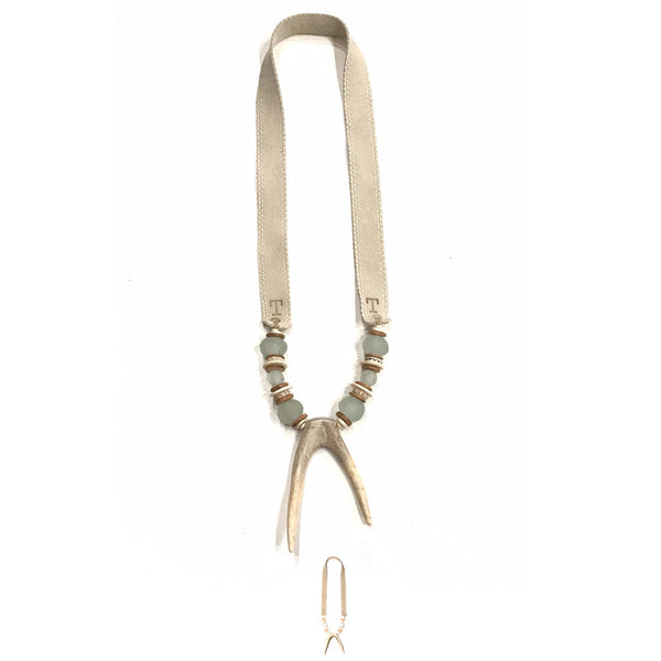 Antler Double Tip Necklace - Tones