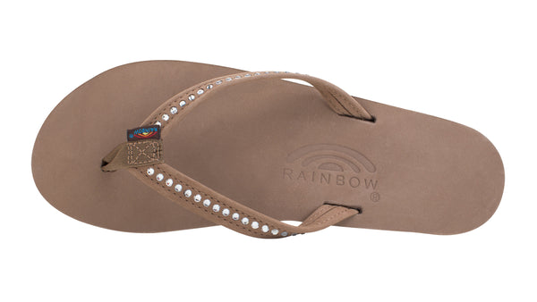 Ws Crystal Single Layer Sandal Nrw Strap