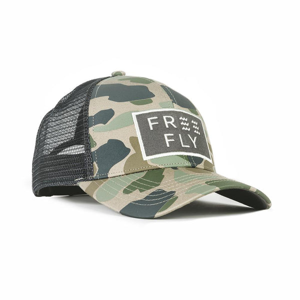 Wave Snapback Trucker Hat Camo