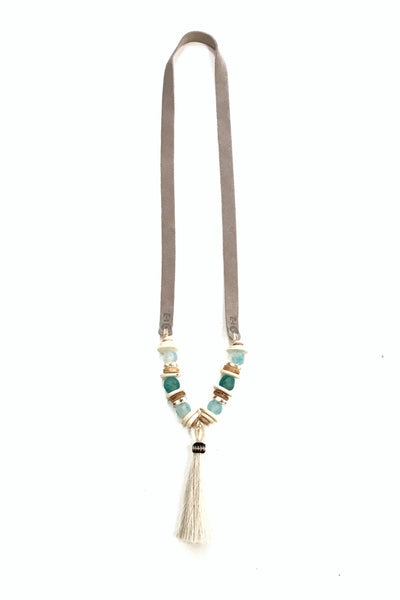 Slim Tassel Necklace  - Tones