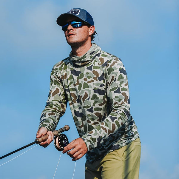 Bamboo Lightweight Long Sleeve Shirt Camo