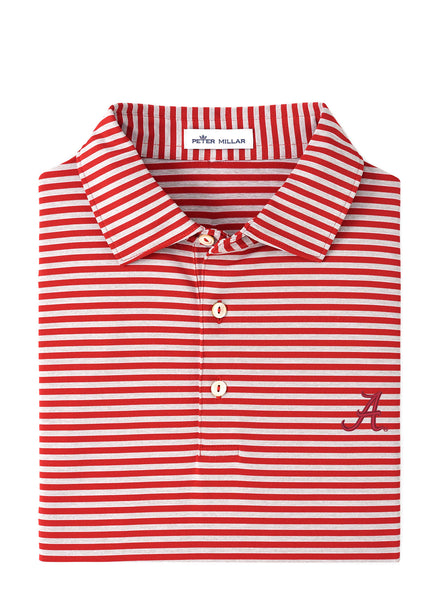 Mills Stripe Stretch Polo Alabama