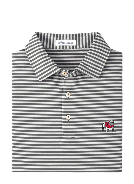 Mills Stripe Stretch Polo UGA