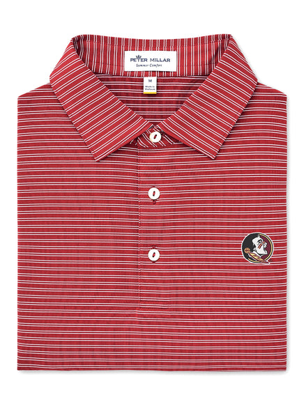 Mascot Stripe Stretch Polo FSU