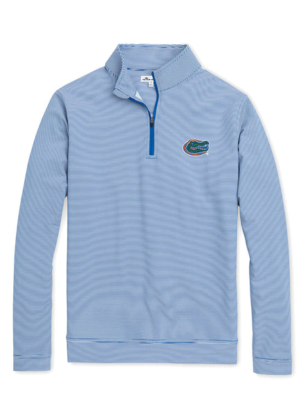 Perth Mini Stripe Perf 1/4 Zip UF