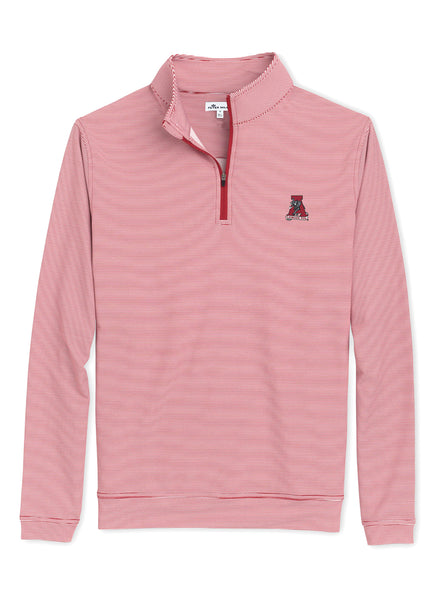 Perth Mini Stripe Perf 1/4 Zip Alabama Vintage