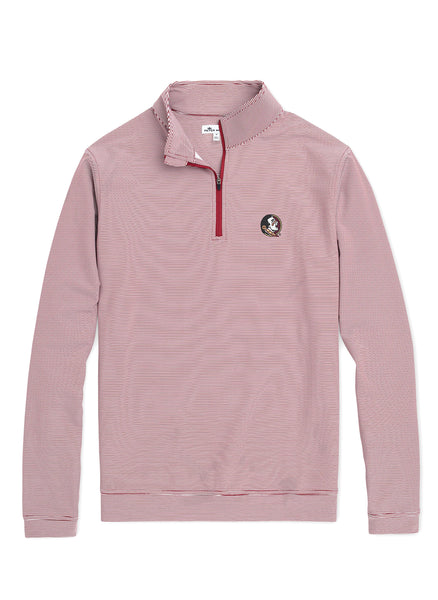 Perth Mini Stripe Perf 1/4 Zip FSU