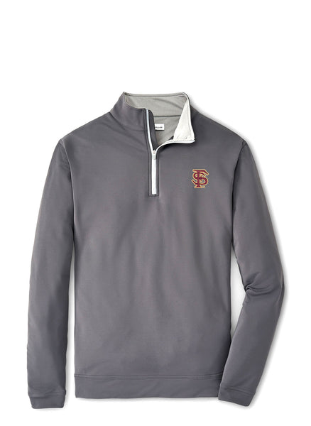 "Perth Stretch Solid 1/4 Zip FSU ""FS"" Logo"