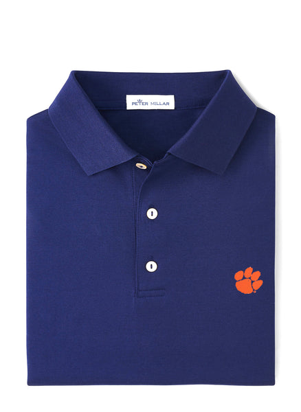 Solid Stretch Polo Clemson