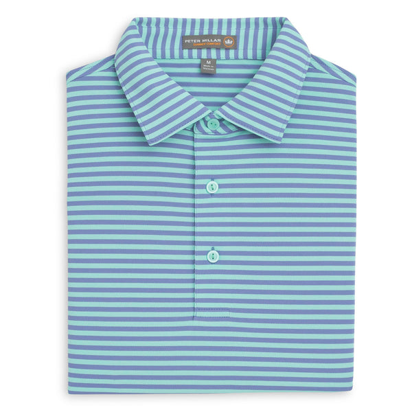 Tygra Stripe Stretch Mesh Polo
