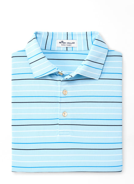 Anniversary Stripe Stretch Mesh Polo