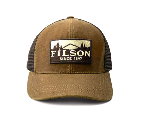 Logger Mesh Flag Cap Dark Tan