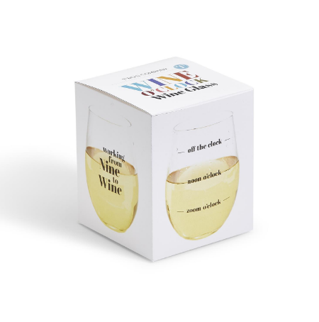 """From Nine to Wine"" Stemless Wine Glass"