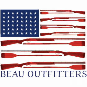 American Flag Guns & Oars Decal