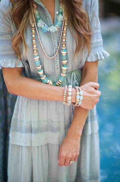 Long Classic Necklace  - Tones