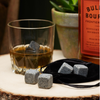 Whiskey Stones and Pouch Set