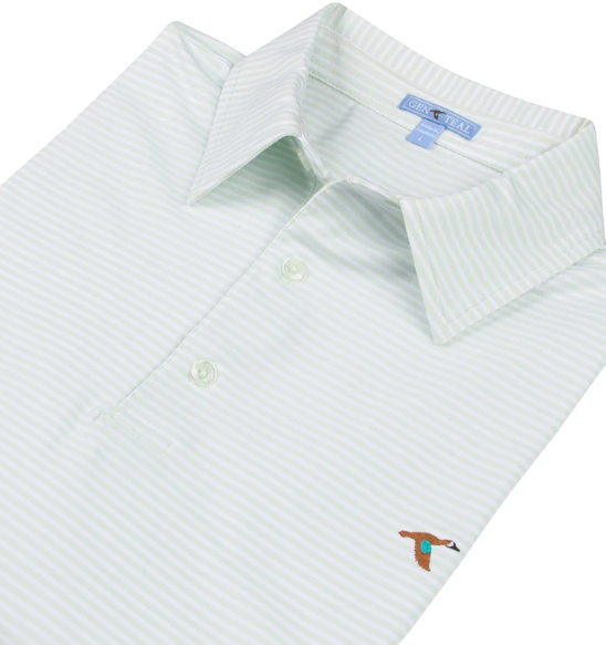 Clubhouse Stripe Performance Polo