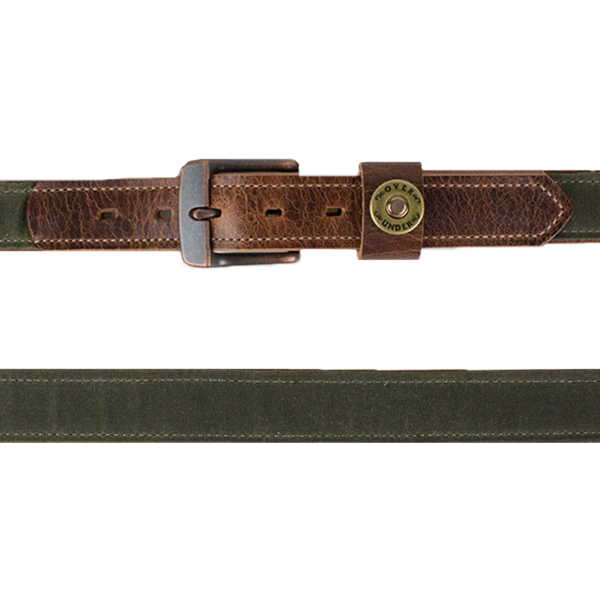 Waxed Canvas Belt (Olive)