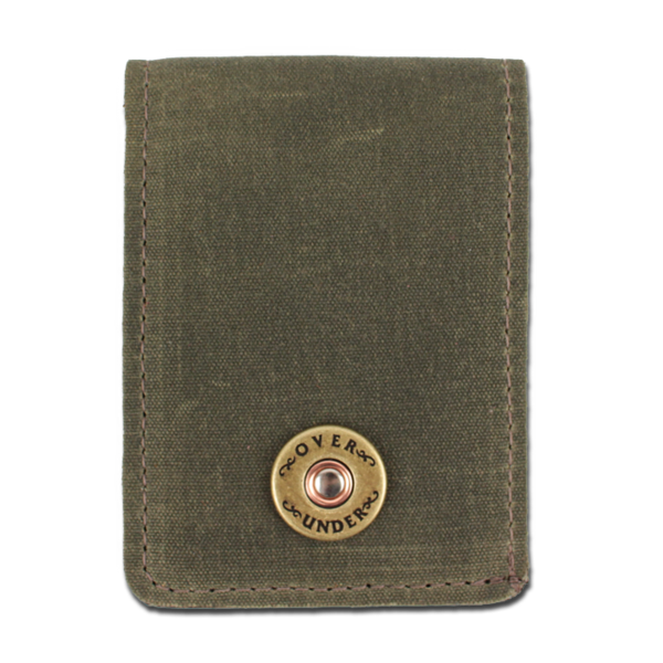 Waxed Canvas Bifold Wallet - Olive