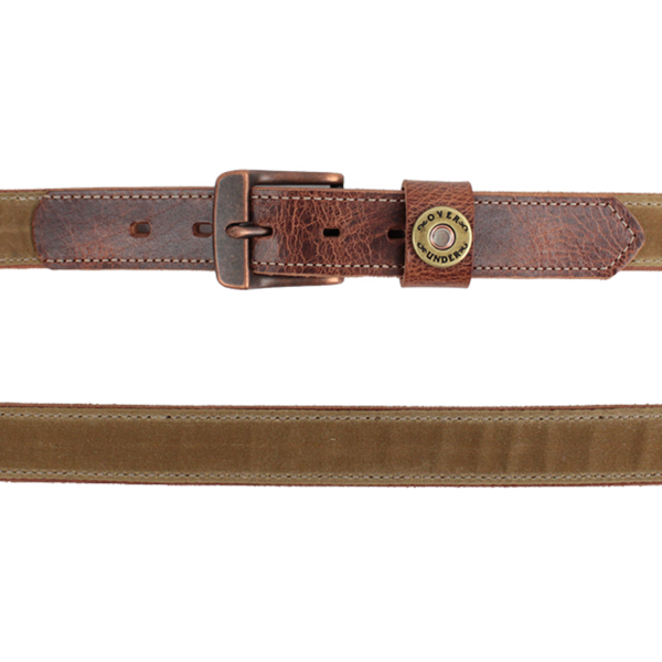 Waxed Canvas Belt (Field Tan)