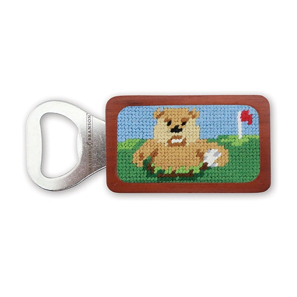 Gopher Golf Needlepoint Bottle Opener