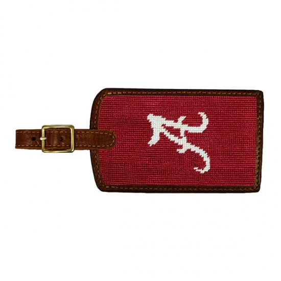 University of Alabama Needlepoint Luggage Tag