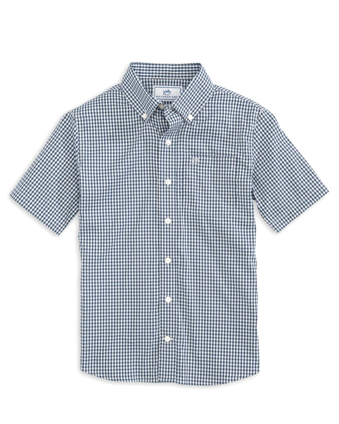Youth SS IC Gingham Sport Shirt