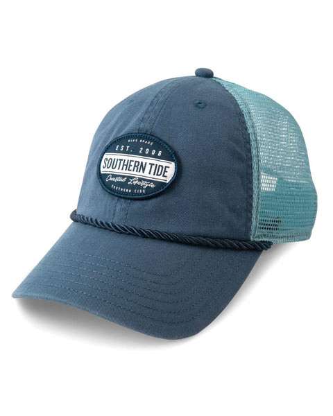 Coastal Lifestyle Patch Trucker Hat Ensign Blue