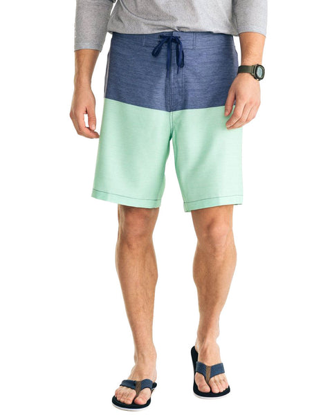 Heather Color Block Swim Short