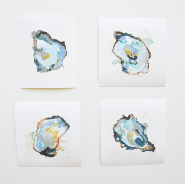 Limited Edition Blue Oyster Painting