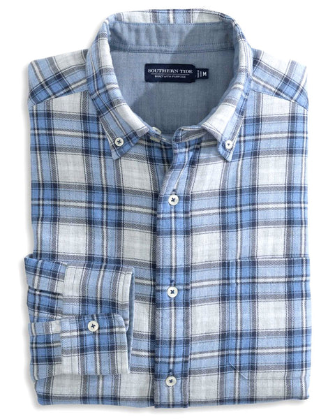 Chambray Plaid Dbl Weave Rev Shirt
