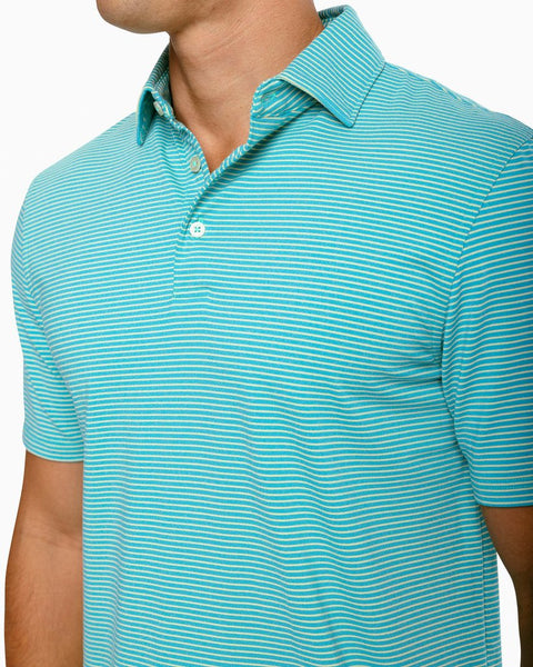 Heather Ryder Stripe Perf Polo