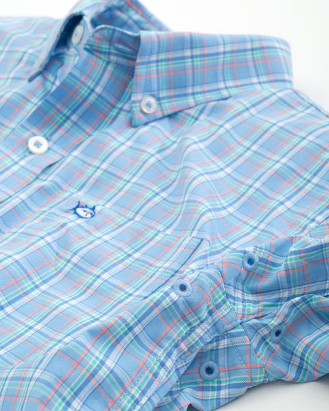 Youth Watersedge Plaid IC Sport Shirt