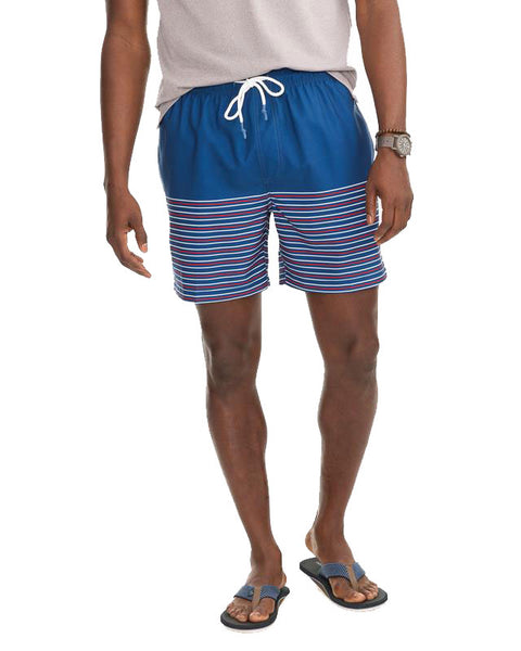 Fireworks Stripe Swim Trunk