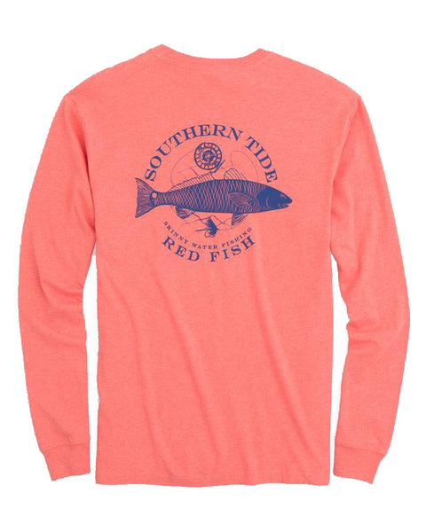 L/S Fish Series Redfish T-Shirt