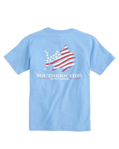 Youth Red White Awesome T-Shirt