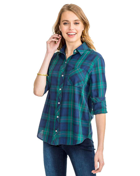 Ws Emery Button Front Blackwatch Plaid