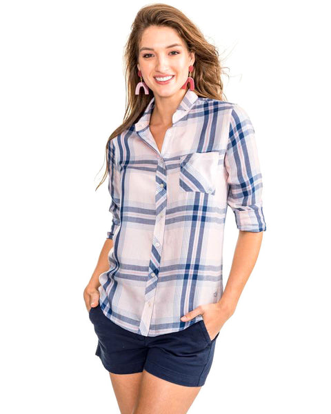 Ws Emery Button Front Plaid Shirt