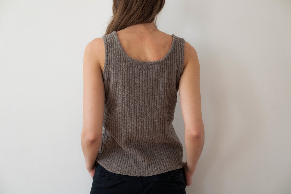 Sleeveless Channel Knit
