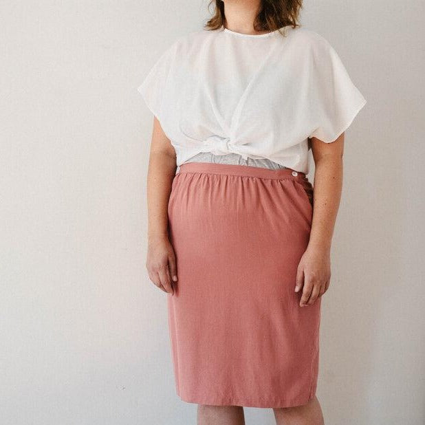 Rose Silk Skirt