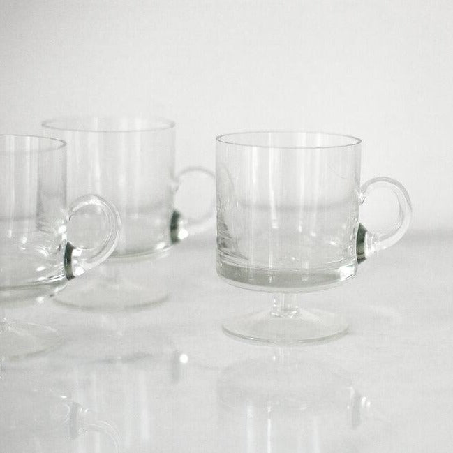 Footed Espresso Glasses - Set of 4