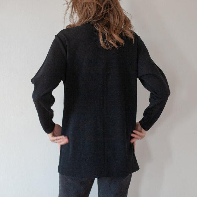 Long Wool Crew Neck