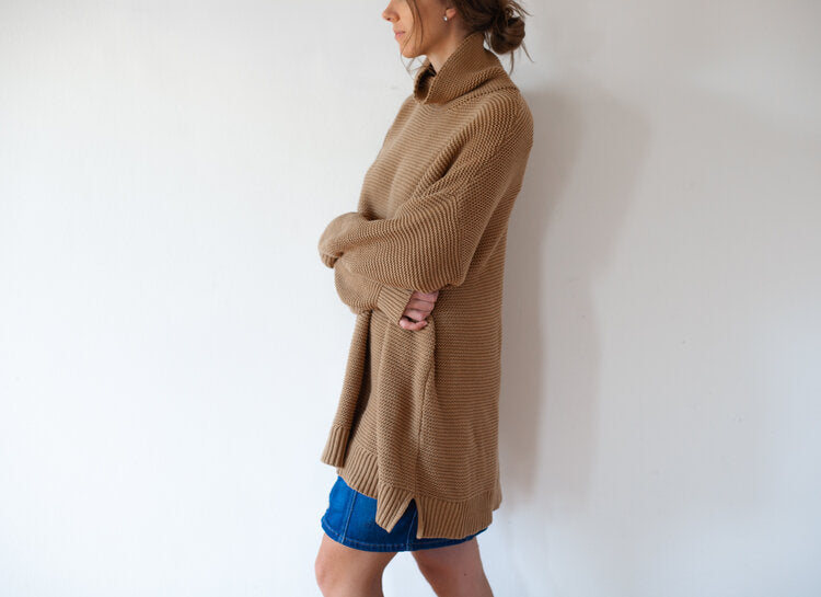 Toffee Knit Sweater Dress