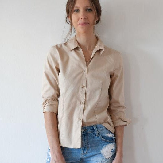 Nude Button-Up