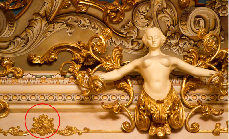 Decoration from The Fenice Theatre by Guerrino Lovato