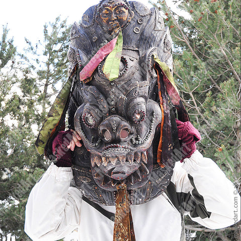 Mahakala Huge Antique Mask from Nepal
