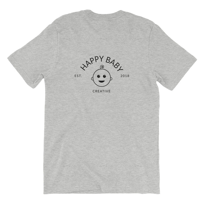 Happy Baby Logo Short-Sleeve Unisex T-Shirt (Logo On Back)