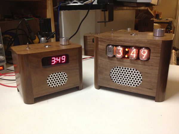 LED And Nixie Ramos in Dark Walnut