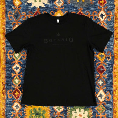 Men's black logo on black tee