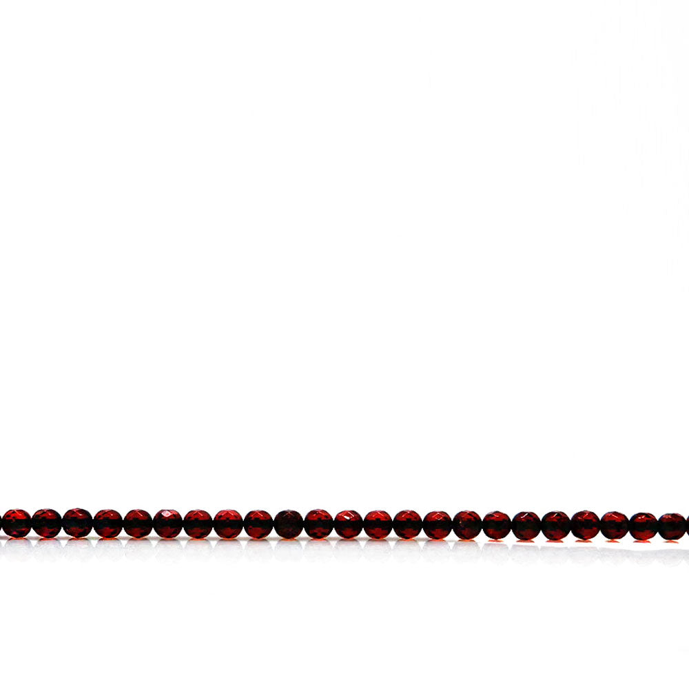 Cherry Amber Round Faceted Beads - Amber Alex Jewelry